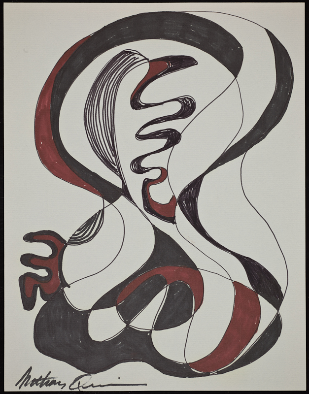 Anthony Quinn   Work on paper  5 7/8 x 9 1/8 in 14.9 x 23.2 cm  (AQ2011.002.293)