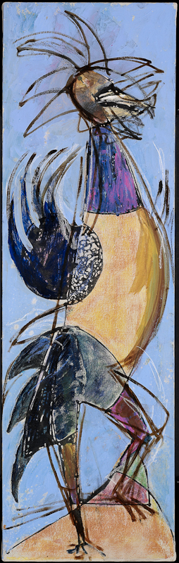 Anthony Quinn   Painting  39 x 12 in 99.1 x 30.5 cm  (AQ2004.458)