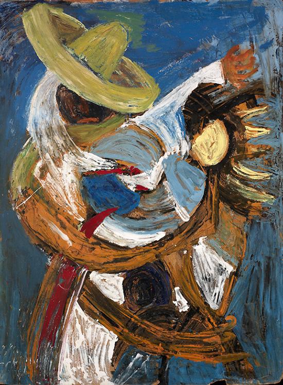 Anthony Quinn   Painting  49 3/4 x 37 1/2 x 2 in 126.4 x 95.3 x 5.1 cm  (AQ2004.254)