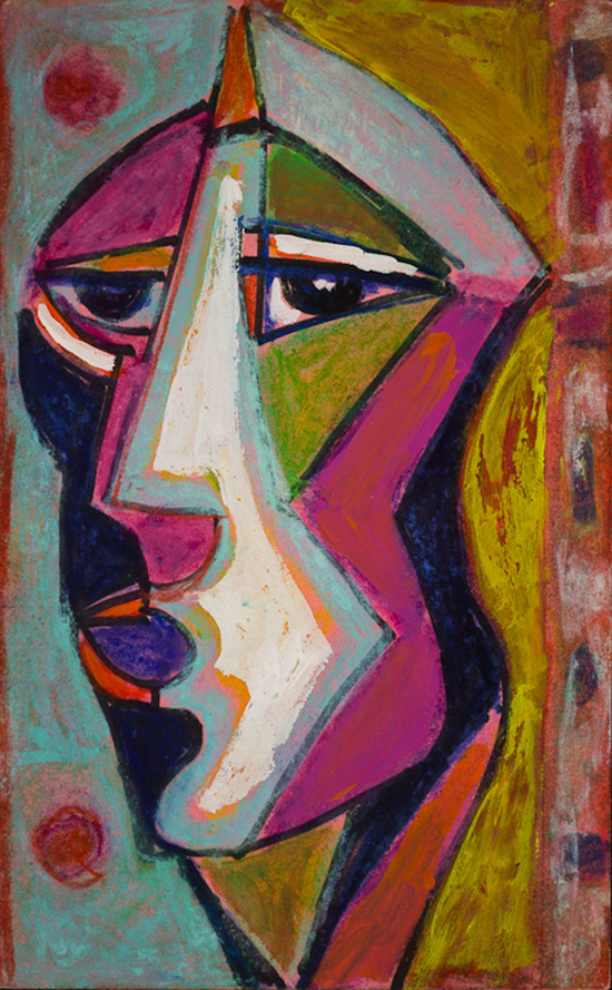 Anthony Quinn   Painting  39 1/2 x 40 1/2 in 100.3 x 102.9 cm  (AQ2004.761)