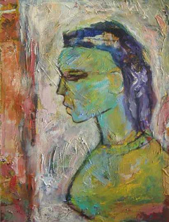 Anthony Quinn   Painting  31 1/4 x 23 3/4 in 79.4 x 60.3 cm  (AQ2004.252)