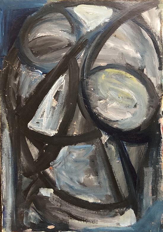 Anthony Quinn   Painting  19 1/2 x 13 3/4 in 49.5 x 34.9 cm  (AQ2004.472)