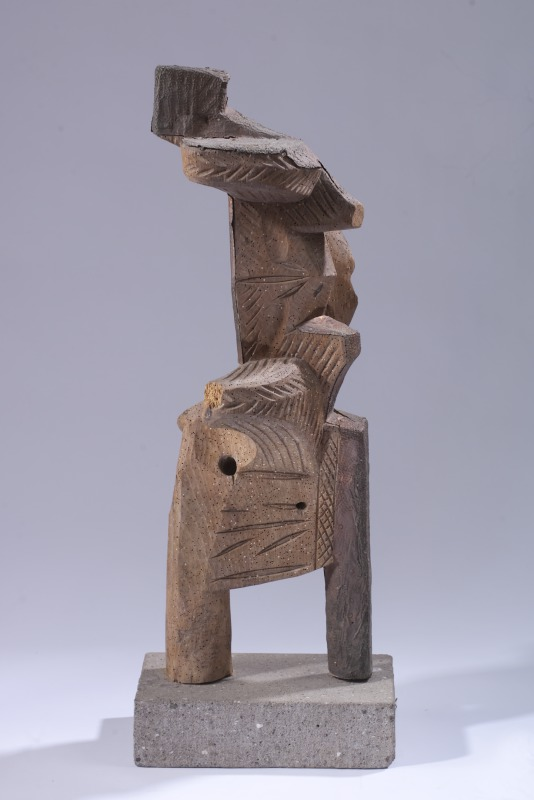 Anthony Quinn   1979  Carved Wood from Oxen Yoke  31 1/4 x 12 x 7 1/4 in 79.4 x 30.5 x 18.4 cm  (AQ2012.002.12)