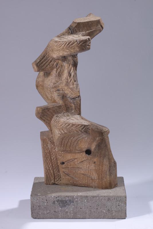 Anthony Quinn    Olmec , 1979  Carved wood oxen yoke  24 x 12 x 7 in 61 x 30.5 x 17.8 cm  (AQ2012.002.13)