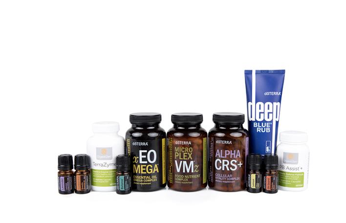 Healthy Habits Enrollment Kit - doTERRA On Guard® (5 mL), doTERRA Balance® (5 mL), Frankincense (5 mL), Lemon (5 mL), Lavender (5 mL), Deep Blue® Rub, doTERRA Lifelong Vitality Pack® includes xEO Mega®, Alpha CRS®+, Microplex VMz®, DigestZen® Supplements includes DigestZen TerraZyme® and PB Assist®+