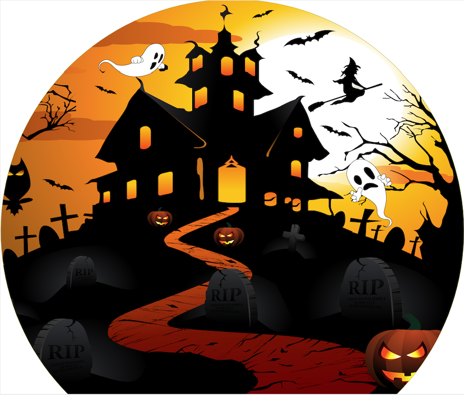 snow globe halloween background