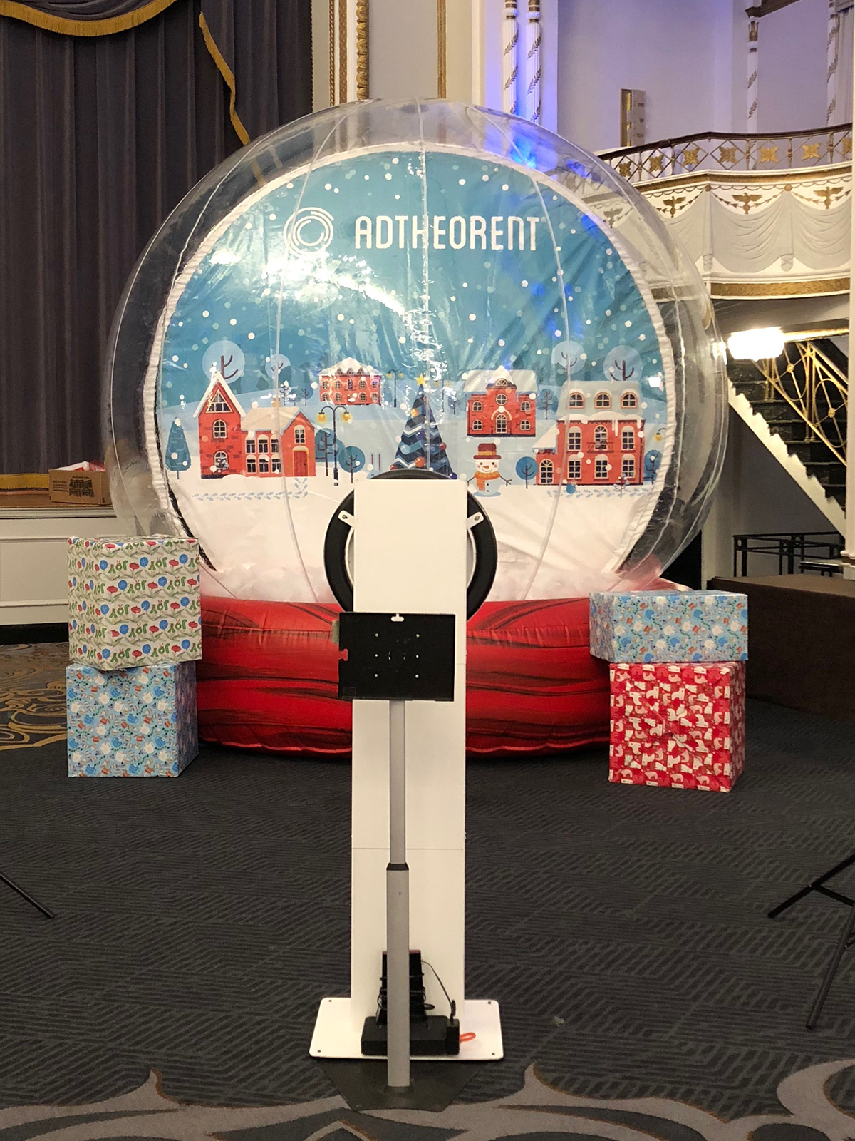 snow globe set up