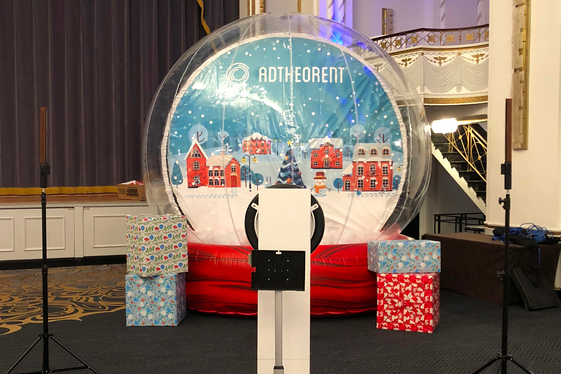 Lifesize Inflatable Snow Globe