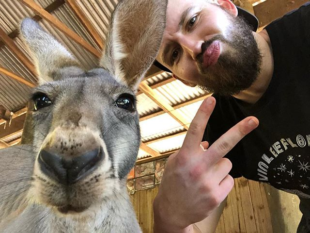 Got to spend my Australian Birthday with my buddy Hops. #squad Can't wait to see @keasterbrooks and Dexter tonight for my US B-Day!
