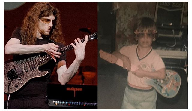 My birthday is this weekend. Here's me past and present. Obsession dies hard. #guitar #guitarist #composer #nyc #birthday #obsession #toddler #pastandpresent #somethingsneverchange