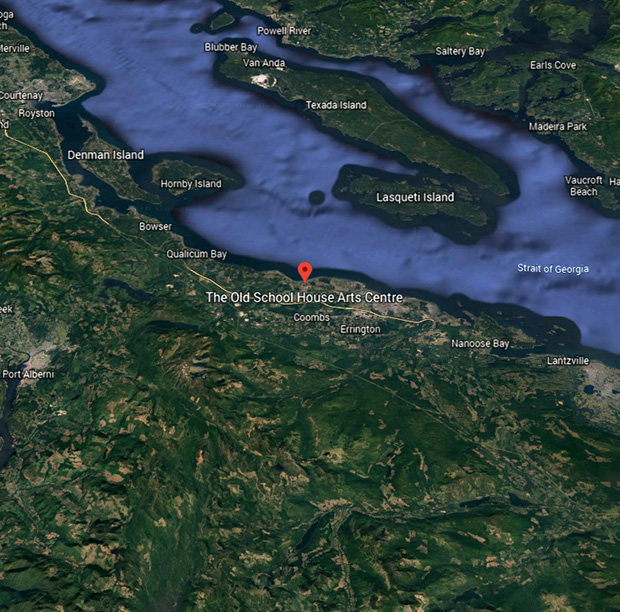 We are located in Qualicum Beach on Vancouver Island.