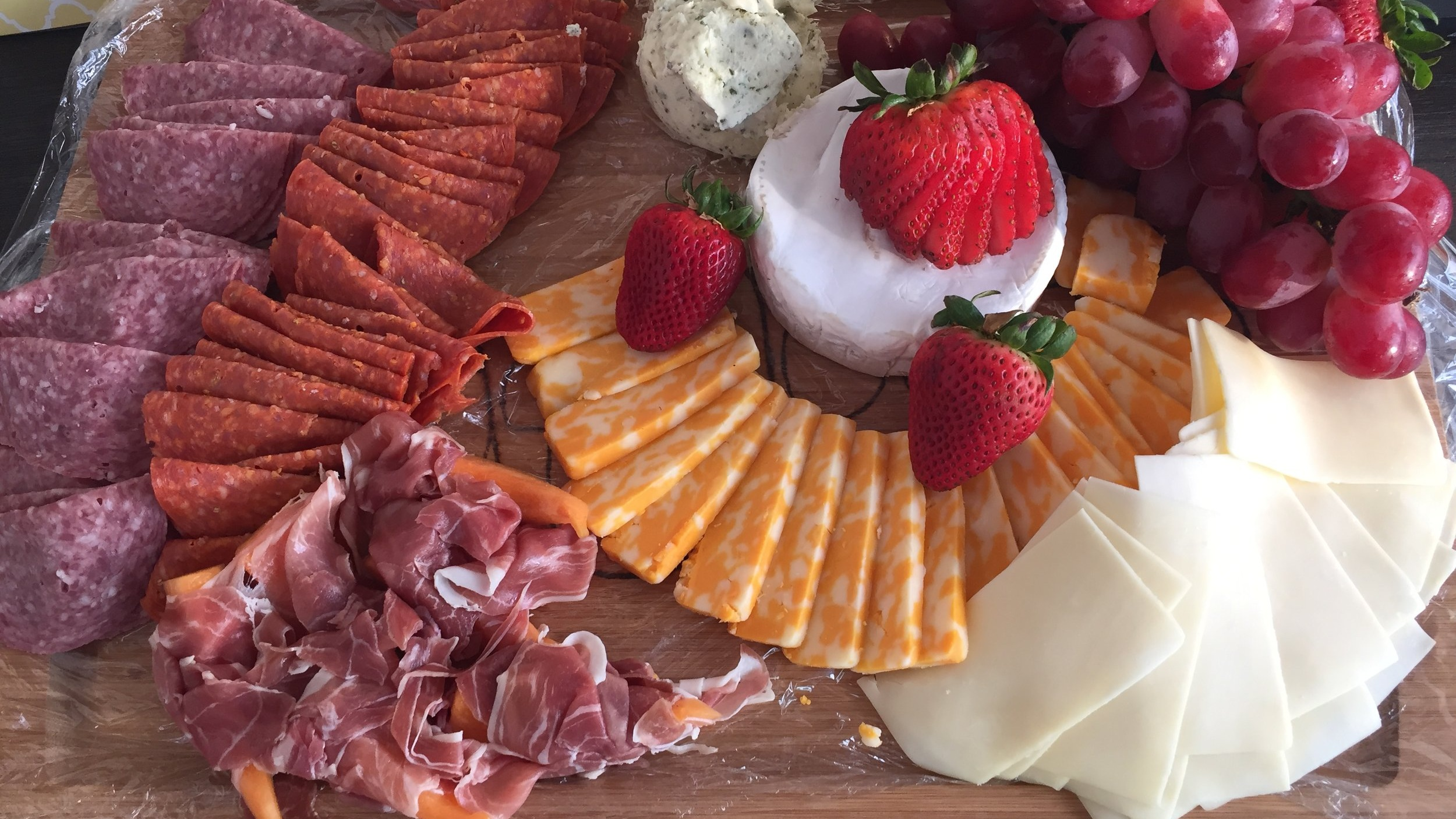 Meat, Cheese & Fruit Charcuterie Board