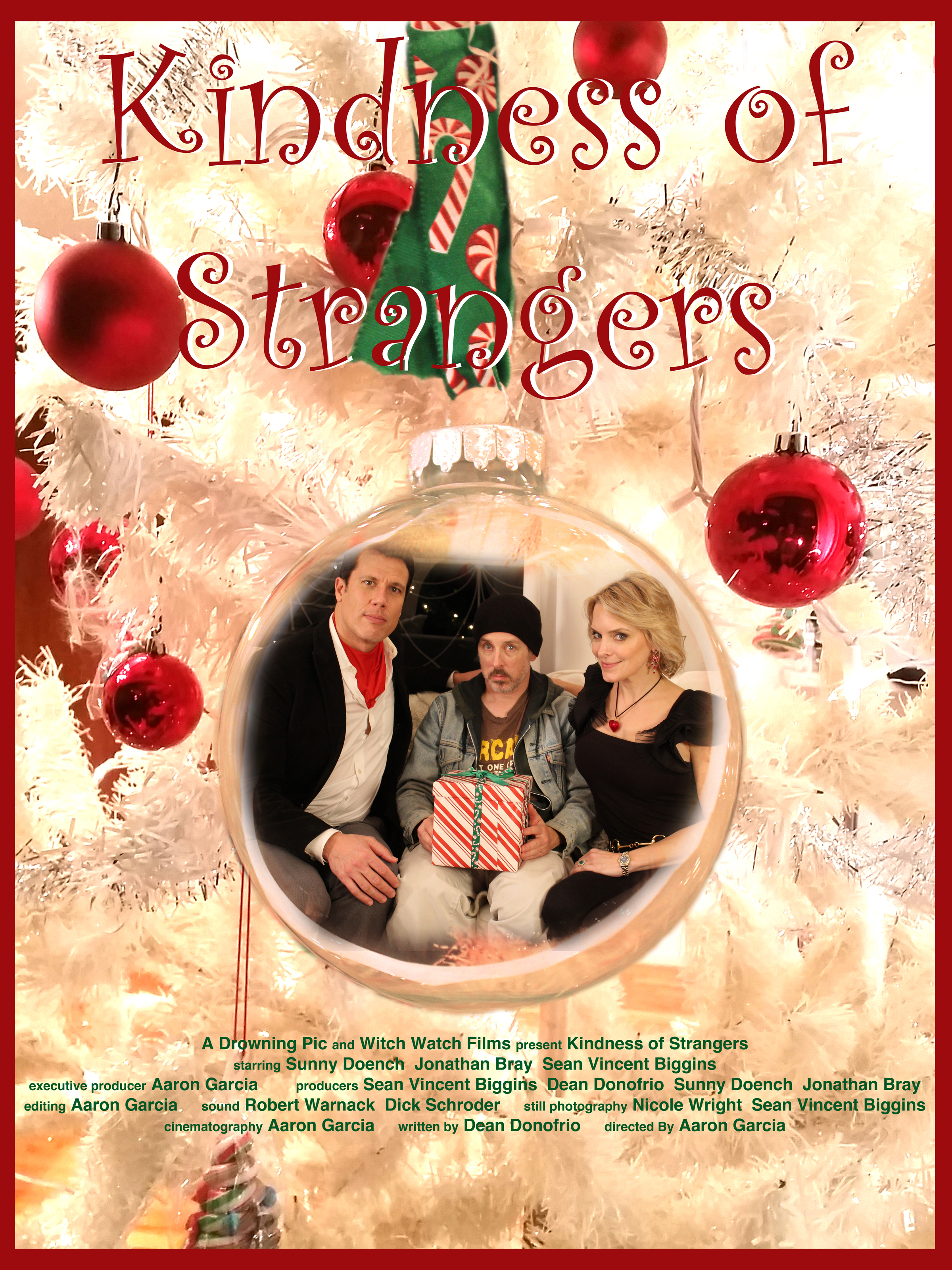 """""""Kindness of Strangers"""" - Our first production was a short film entitled """"Kindness of Strangers"""" and was based on a one-act play by Los Angeles-based writer Dean Donofrio.The film starred myself, Jonathan Bray and Sunny Doench.The film was directed by Aaron Garcia.I was one of the co-producers and I designed the poster shown here."""