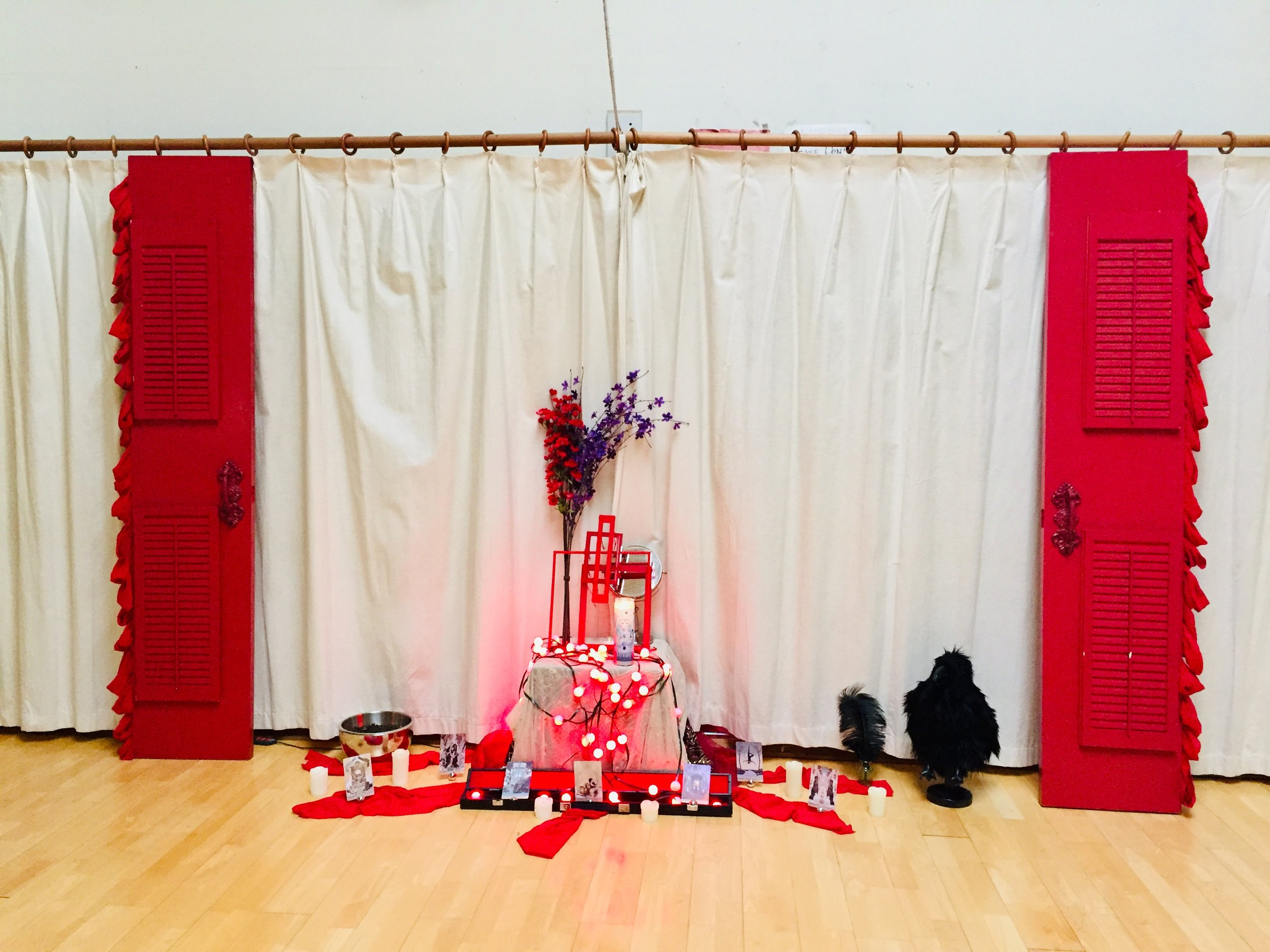 Red Door Altar Installation - Day 2 - Stop : : Earth & Shadows