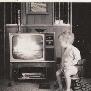 Baby Jimbo watches the moon landing on July 20, 1969.