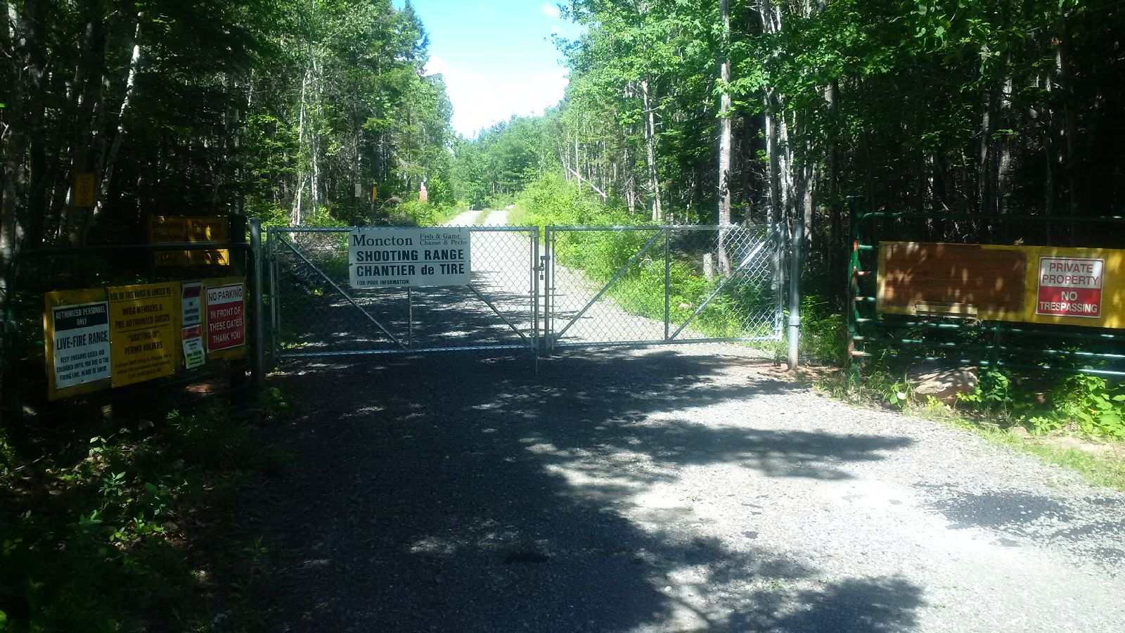 New Gate installed - Gate is always locked, members receive a gate code gain access.