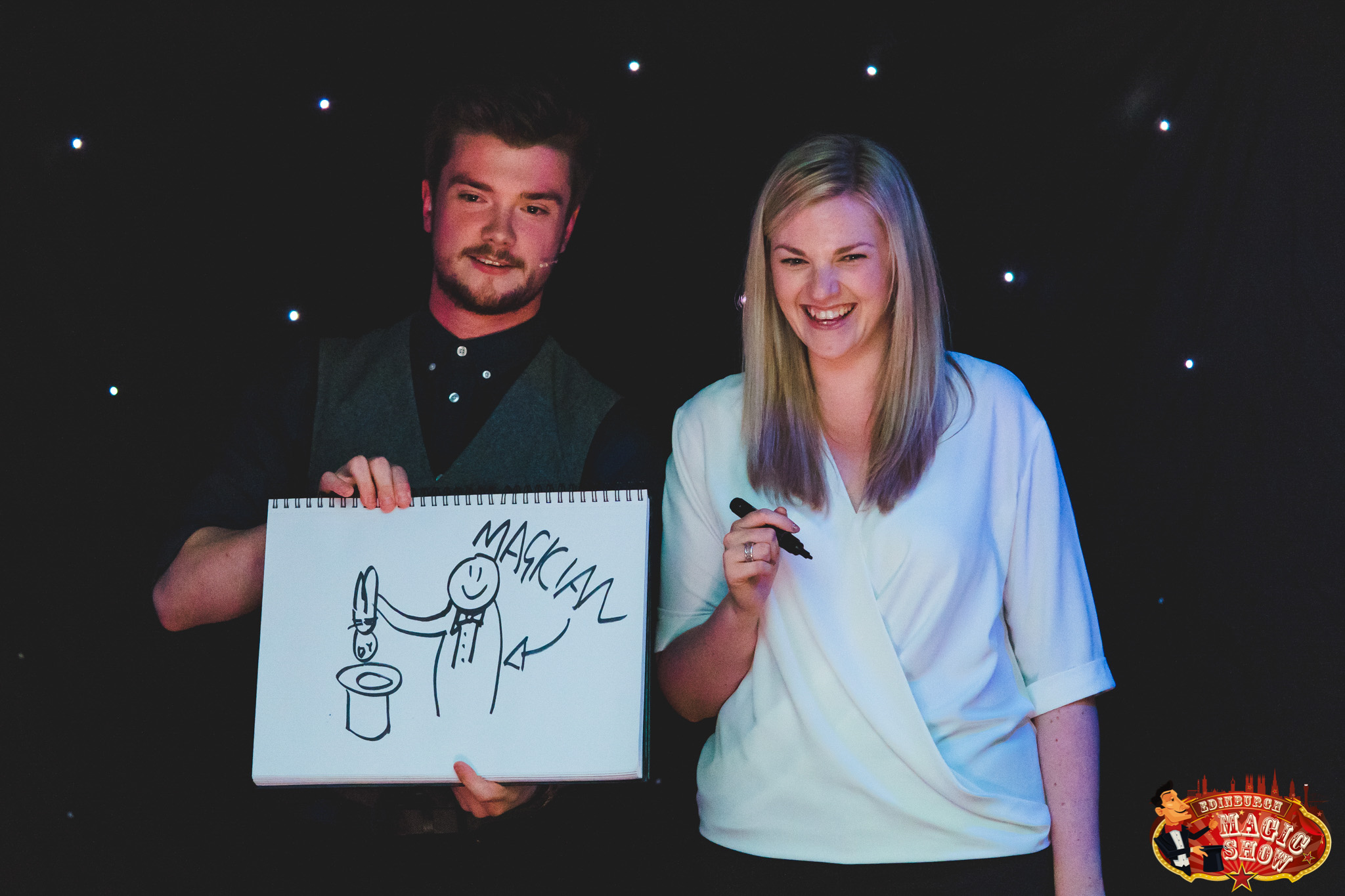 Magician & Assistant At Edinburgh Magic Show