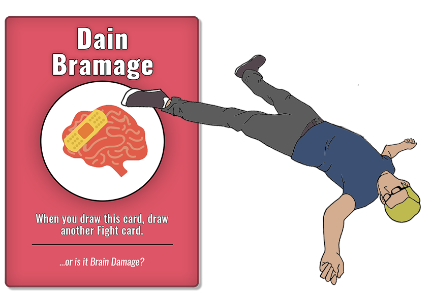 Avoid Injuries (or die trying!) - If an Attack card lands on you, and isn't countered, you draw an Injury card.