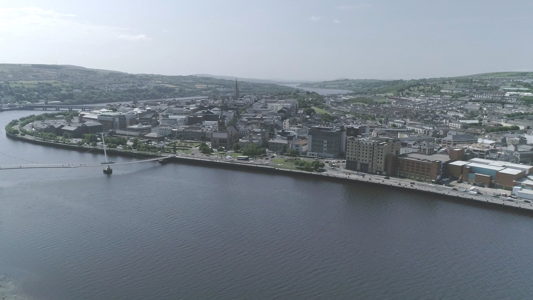 Derry City and Peace Bridge
