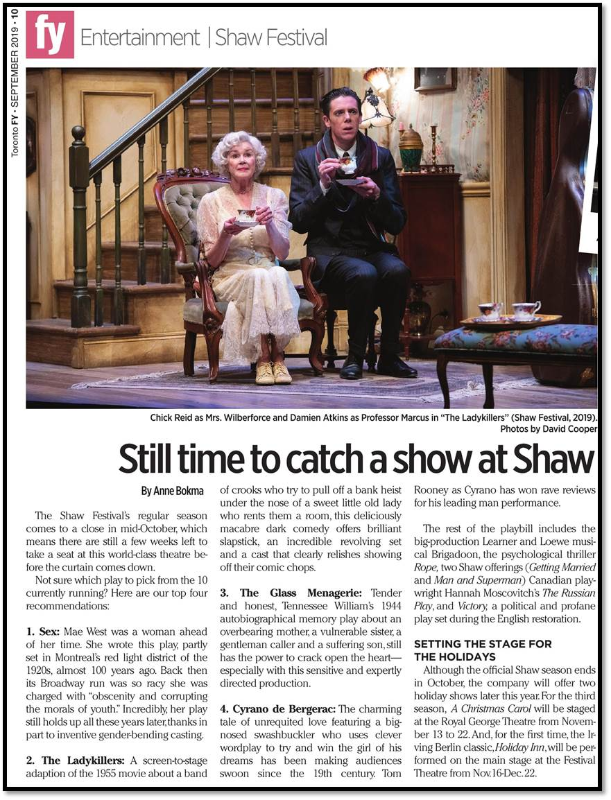 See a Shaw Show