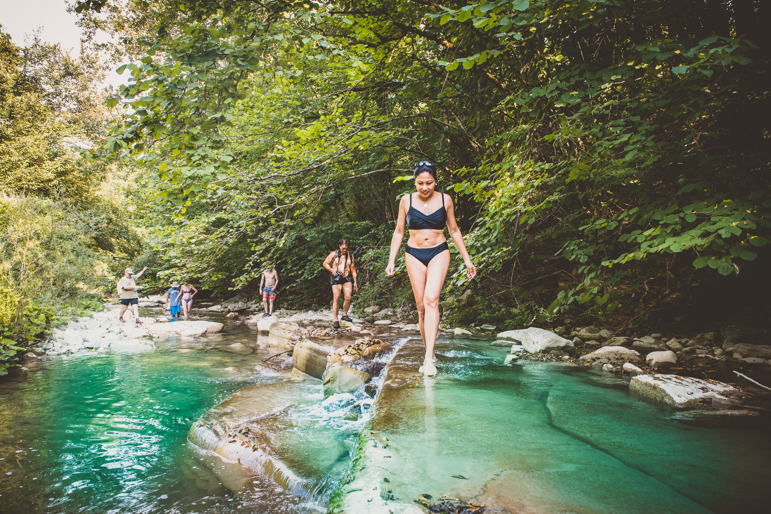 River Swimming - Trek through blue lagoons and navigate miniature waterfalls as we get our feet wet and learn the history of the area. Traditional Italian merenda to follow in a truly off-the-beaten-path location!