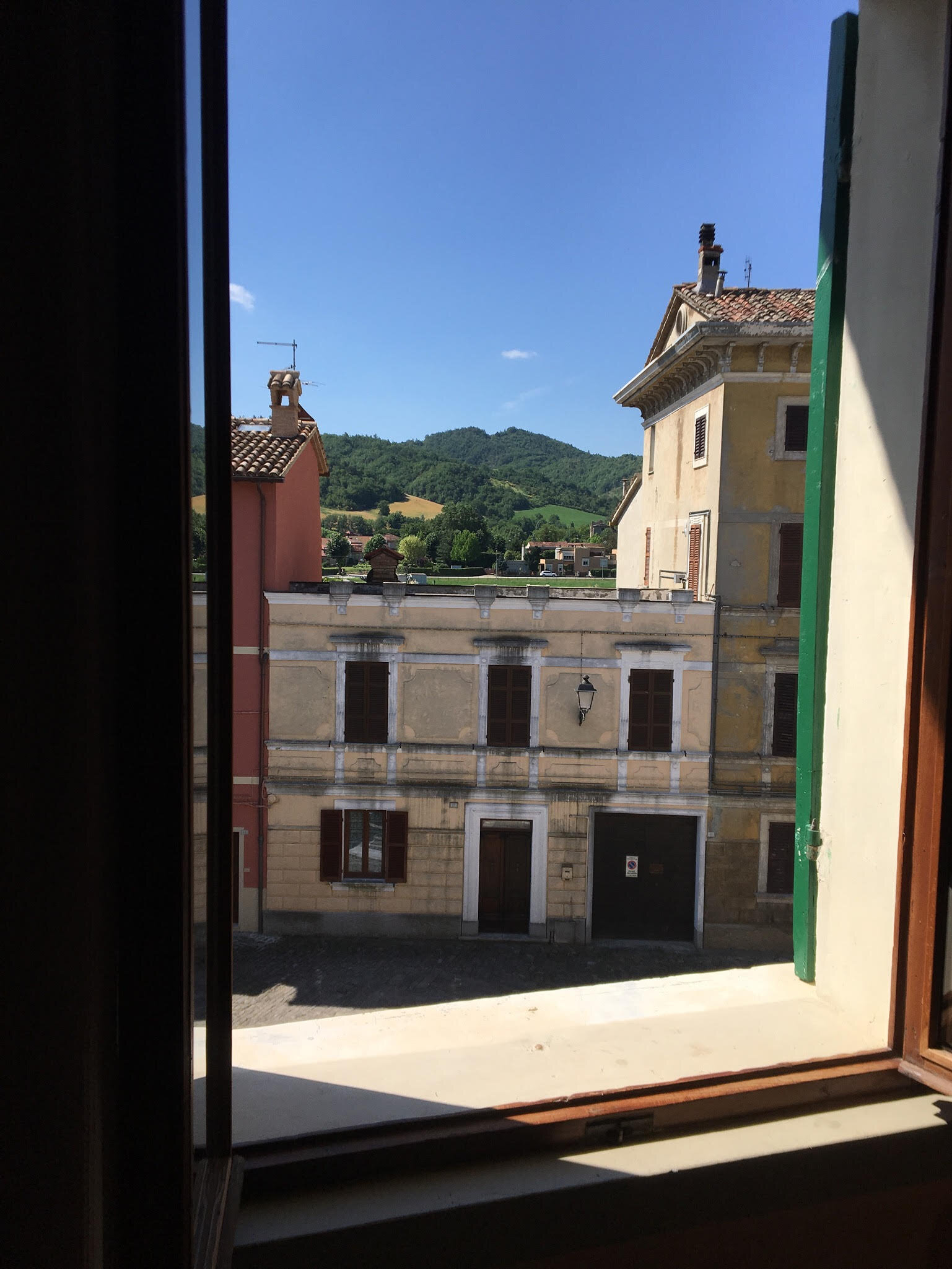 An example of a courtyard view from one of the 15 hotel rooms.