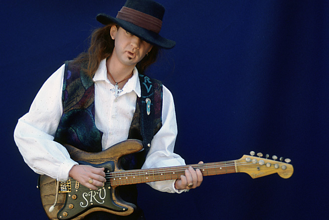 "Stevie Ray Vaughan OOAK 21"" Porcelain, Fiber & Wood 1991"