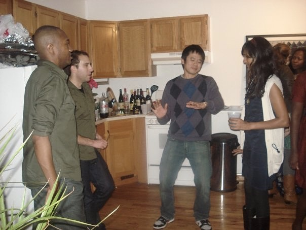 Dance like everyone is looking at you and they disagree. @louiskatzcomedy had to take off his glasses. Poor @chitra doesn't understand what's happening! Even @busayonyc in the back looks concerned. circa 2010 NYC. Not a threat, but there are more photos of me dancing at people.