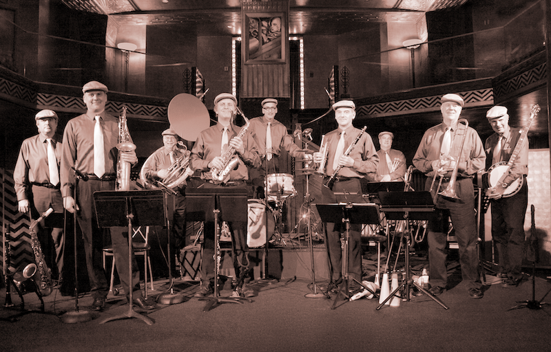 Corey's Rolling Figs Jazz Orchestra - December 30th • Carrillo BallroomWe are excited to feature Corey's Rolling Figs for the first time at Santa Swing! Corey's 1930's-ish sounding ensemble performs all original songs composed and arranged by Corey.