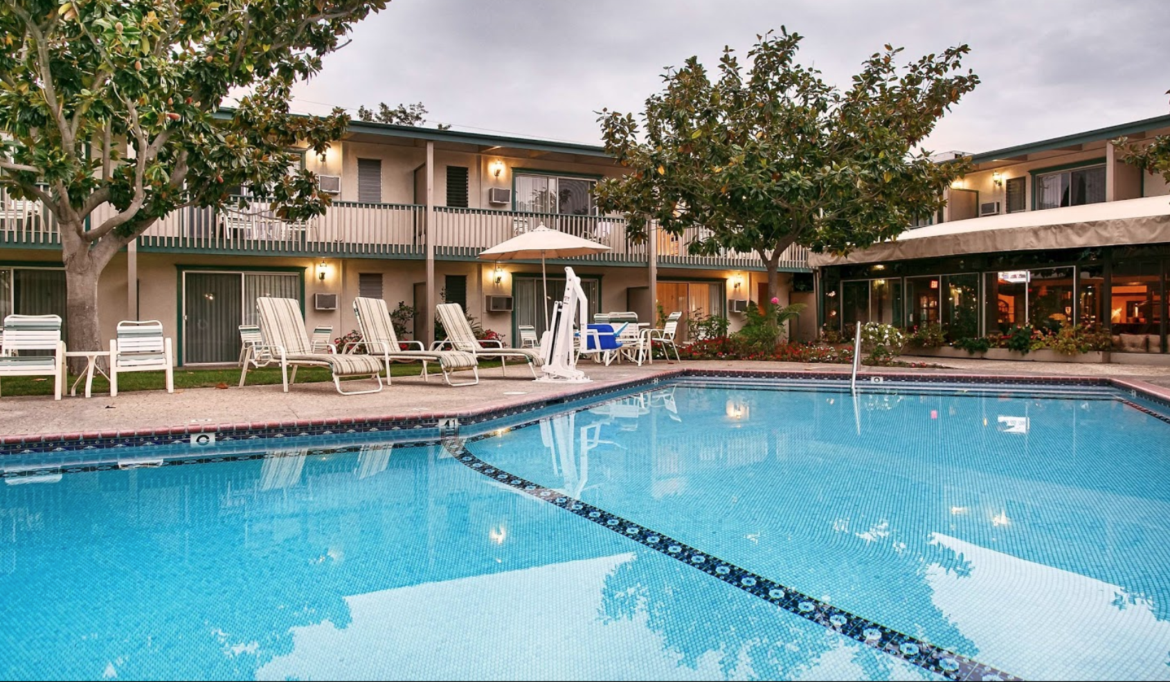 Best Western Plus Encina Inn & Suites - 2220 Bath St, Santa Barbara, CA 93105Call to reserve with the group code: Santa Swing 800-526-2282Double and Single rooms (before taxes)$179 for 12/28 and $159 per night for 12/29-1/1/20 (avg. $164.)1.8 Miles from the Carrillo Ballroom and where the classes will be held (6 minute drive)