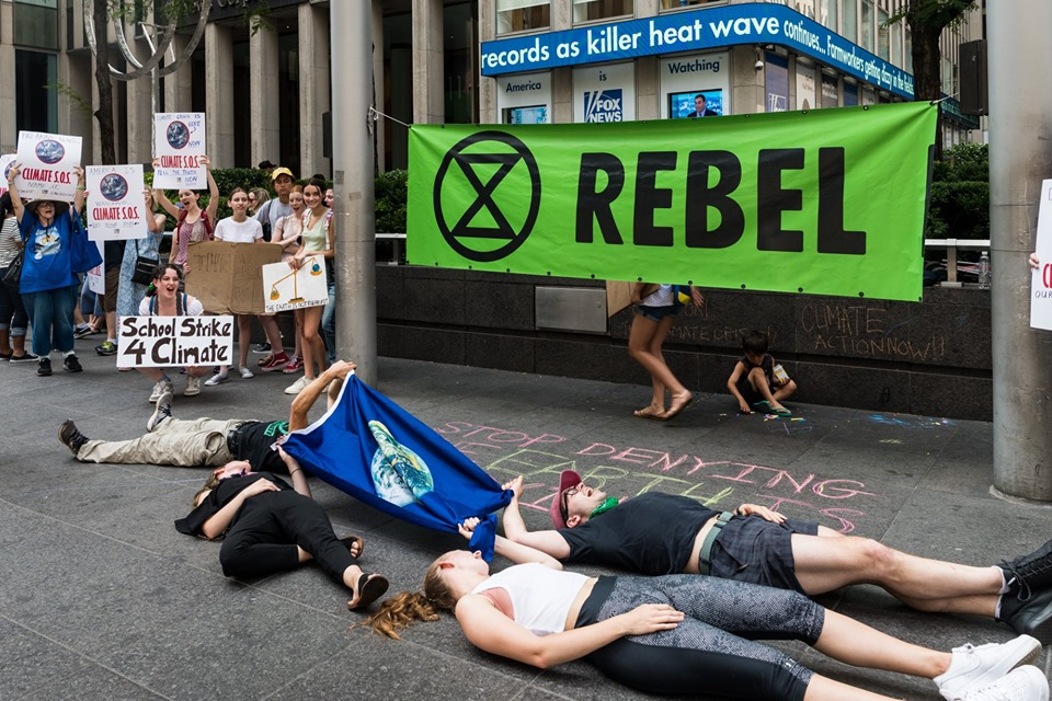 Extinction Rebellion in support of Fridays For Future at Fox News