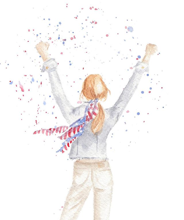 Counting down the hours till the @uswnt kick off their first World Cup game of 2019! Go Girls!💪🏻🇺🇸⚽️ . . . #OneNationOneTeam #FIFAWWC #uswnt #USA #watercolor #pearlygatesdesigns