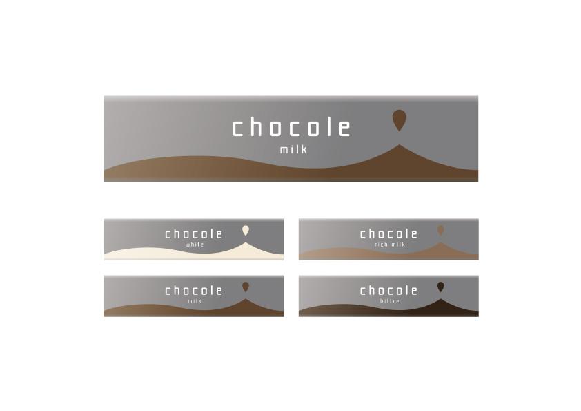 糖分補給に必要な糖分の量を板チョコに換算すると約3/1と言われています。なので少し小さめのパッケージデザインを提案しました。