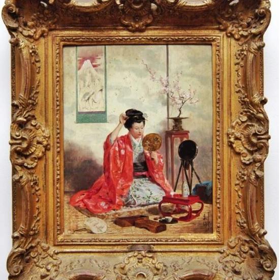 Adrien Marie - A Moment Beauty of Geisha -1873