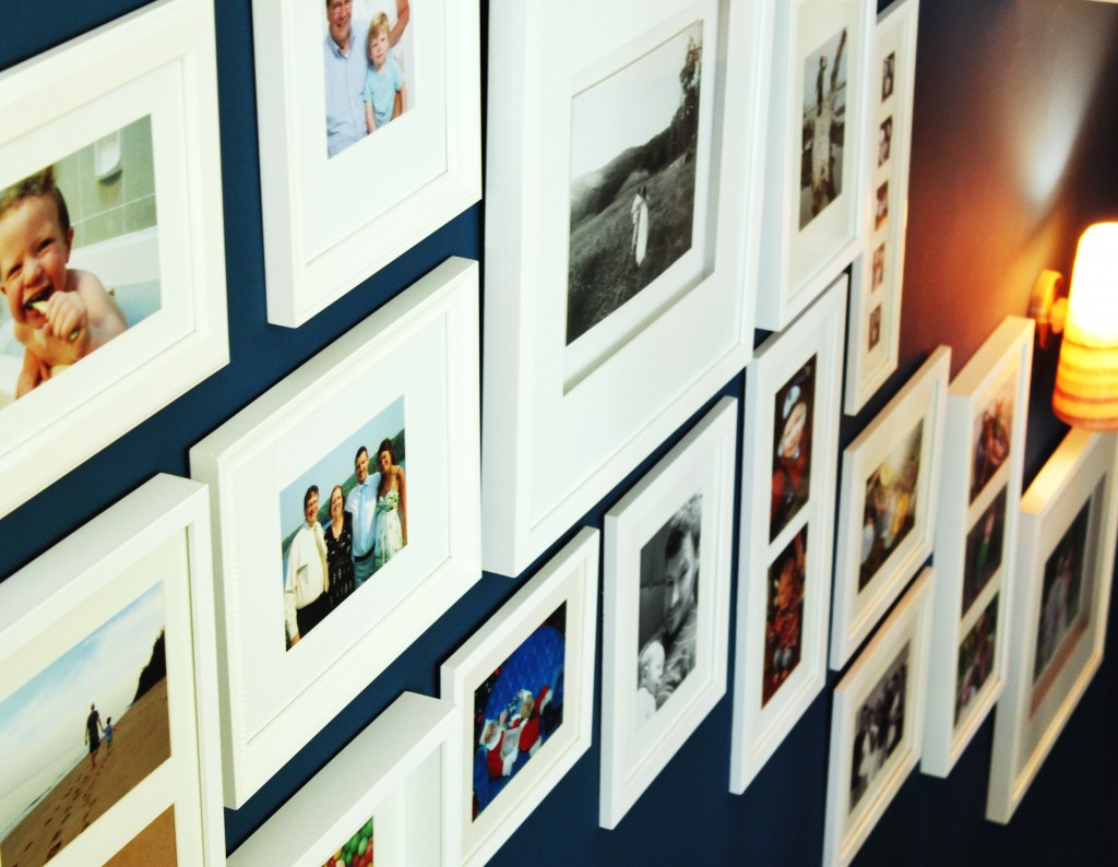 Our other stairway gallery wall