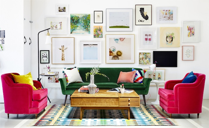 Living Room designed by Emily Henderson. Photo found here