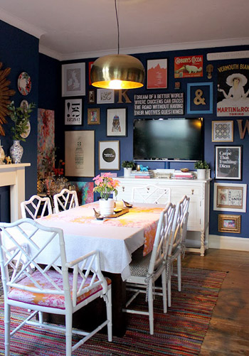 In love with this Dining Room Gallery wall, featured on YHL