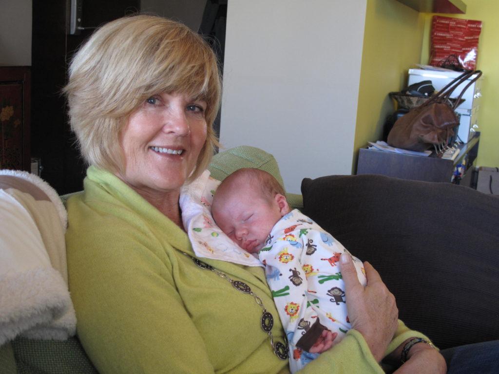 My mom the baby whisperer. She totally deserves a present.