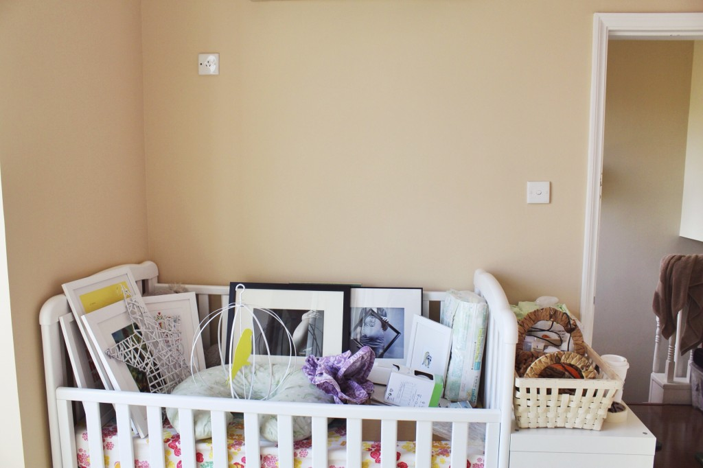 And naturally you store framed art in the baby's crib.