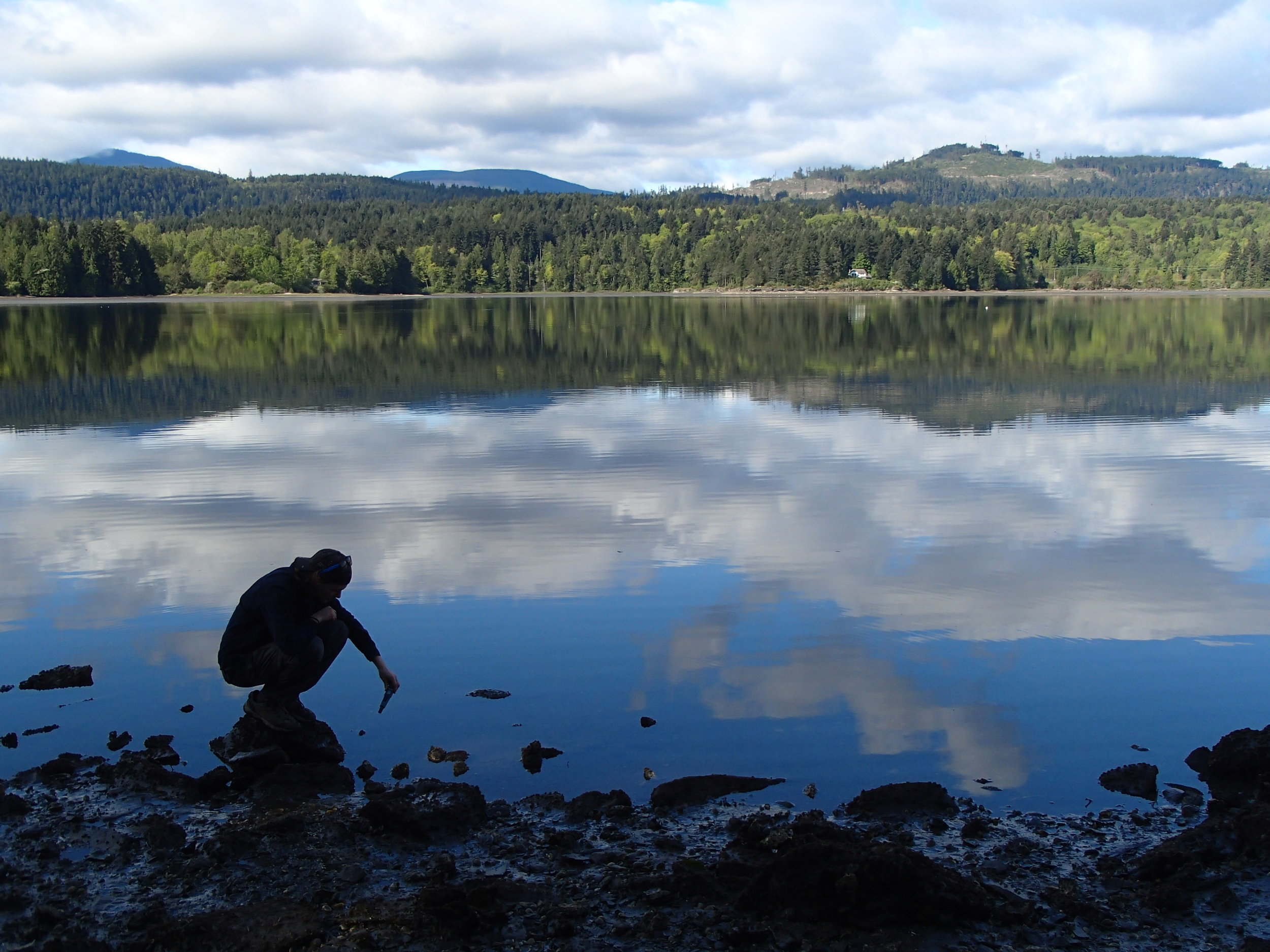 Taking water measurements in an inlet in British Columbia, Canada (photo credit: Aneesh Bose)