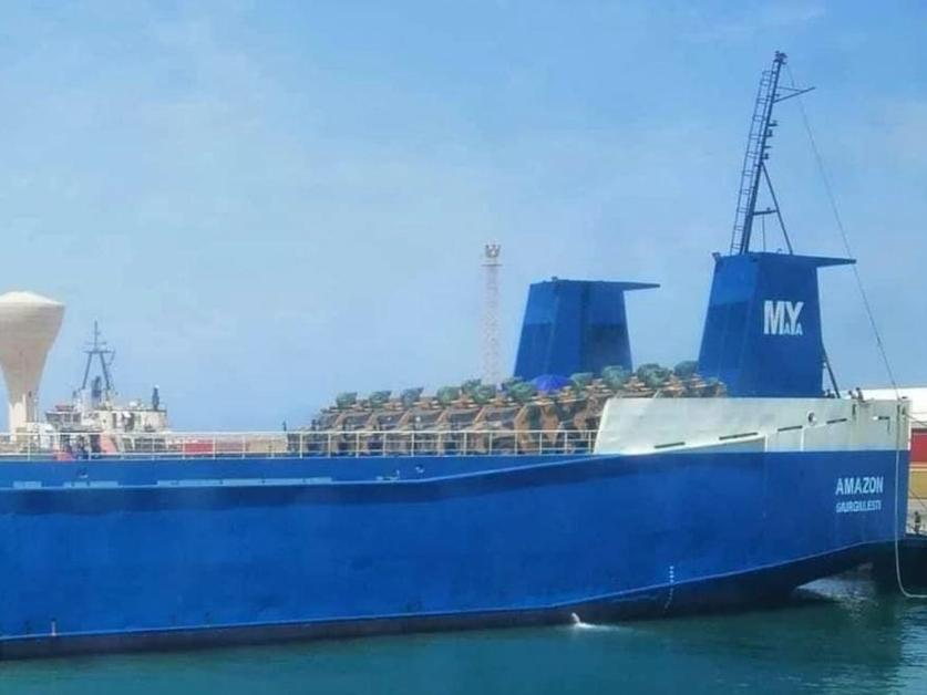 The cargo ships bringing Turkish MRAPs into Libya