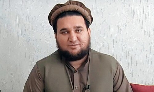 Ehsanullah Ehsan, former spokesperson of JuA who later surrendered to Pakistani state