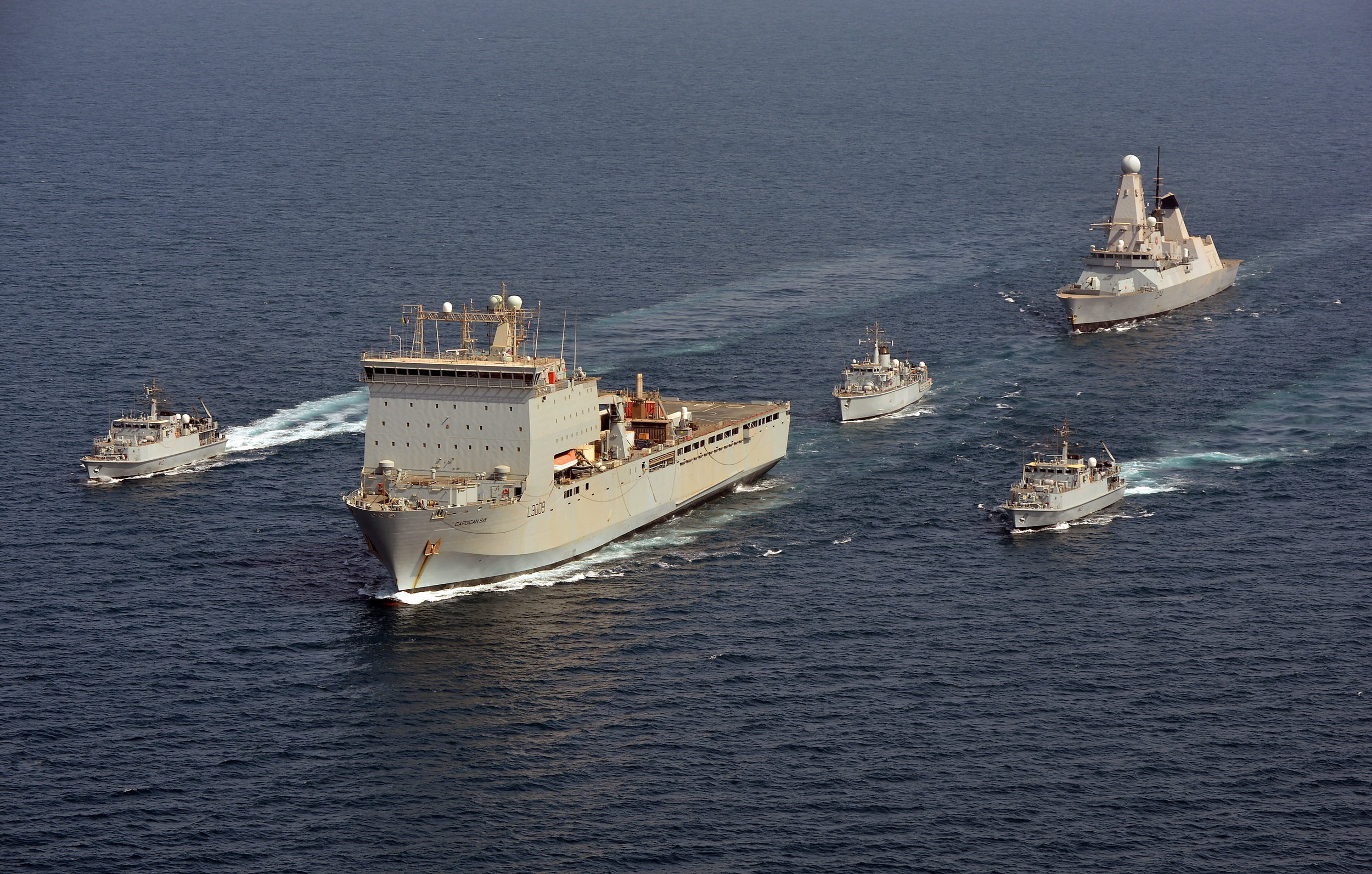 Royal Navy Ships In The Gulf.     Source http://www.defenceimagery.mod.uk/fotoweb/archives/5042-Downloadable%20Stock%20Images/Archive/Royal%20Navy/45154/45154692.jpg
