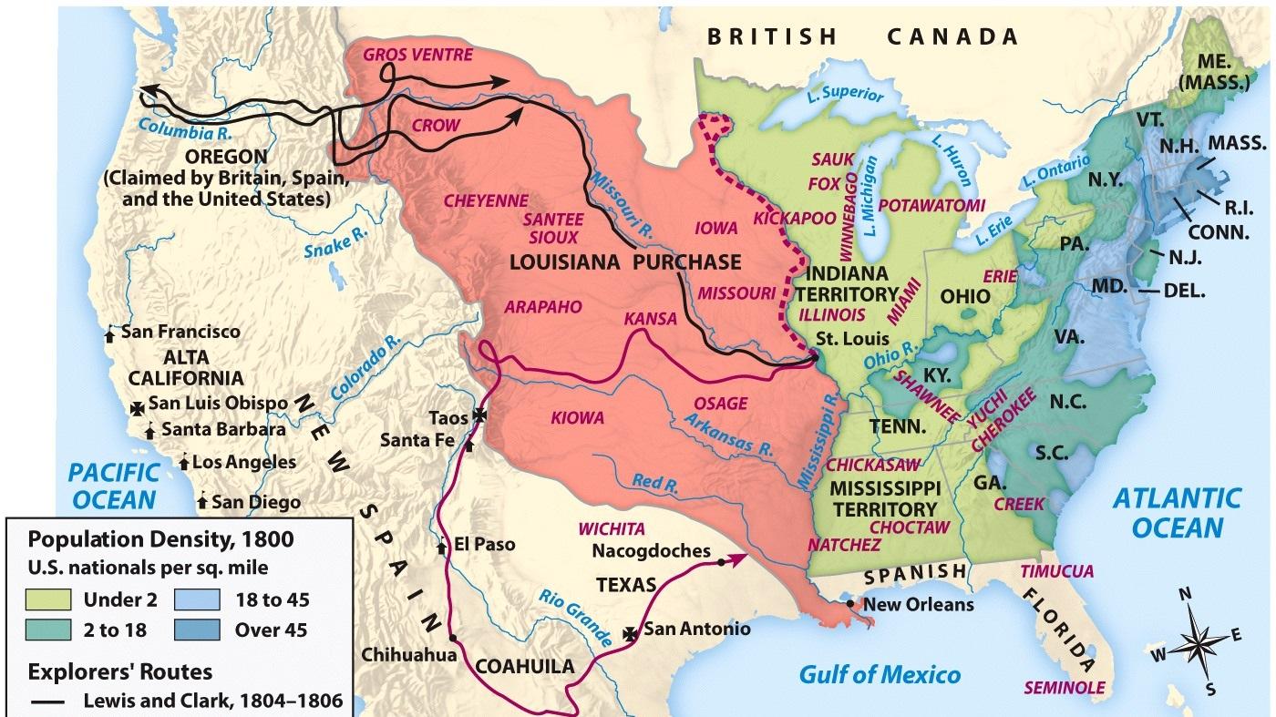 1796 - 1824: Early Republic -