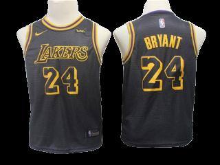 Youth Los Angeles Lakers 24 Kobe Bryant Jersey Black — Jersey ...