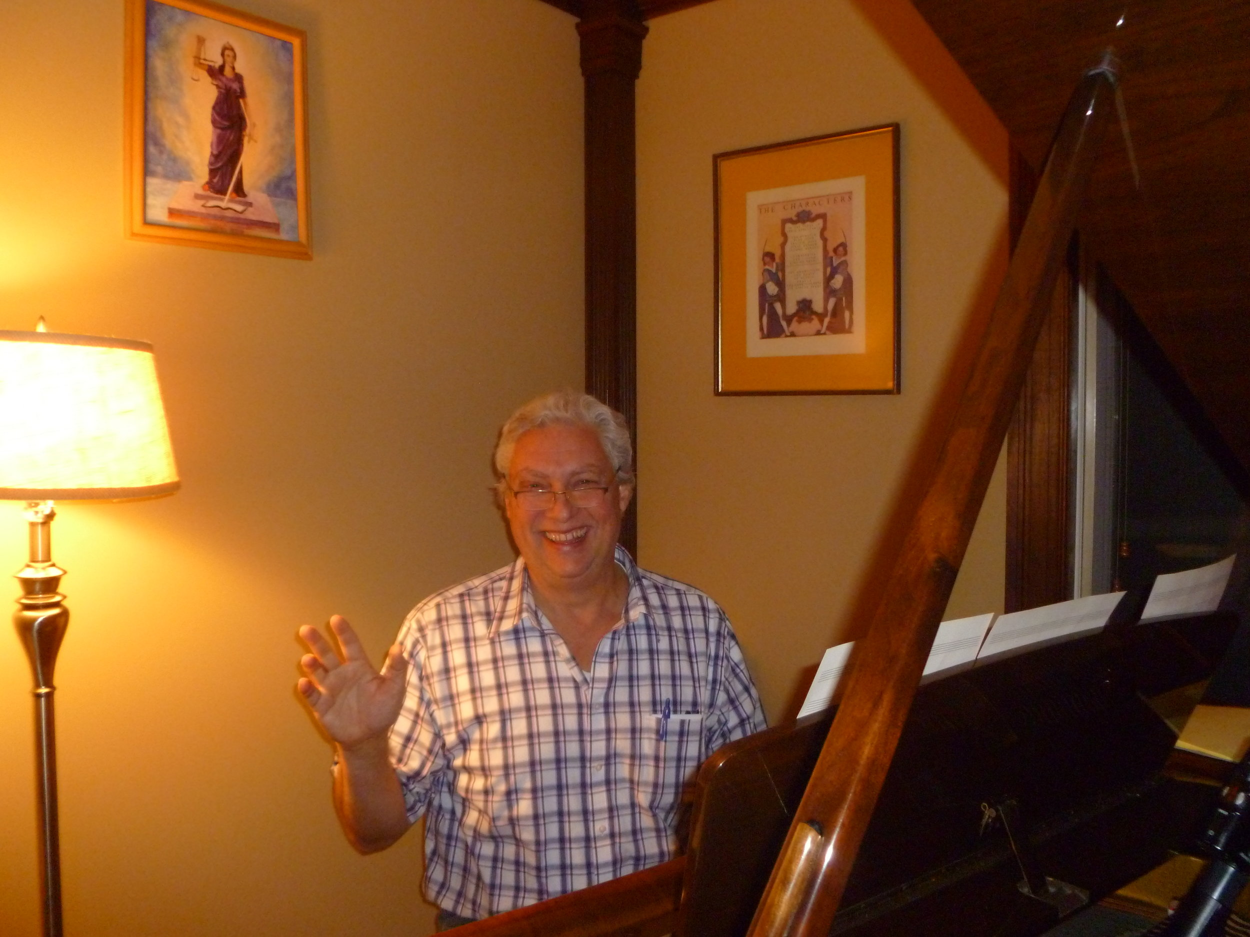 David finds playing the piano balancing, strengthening, and an inspiring activity.