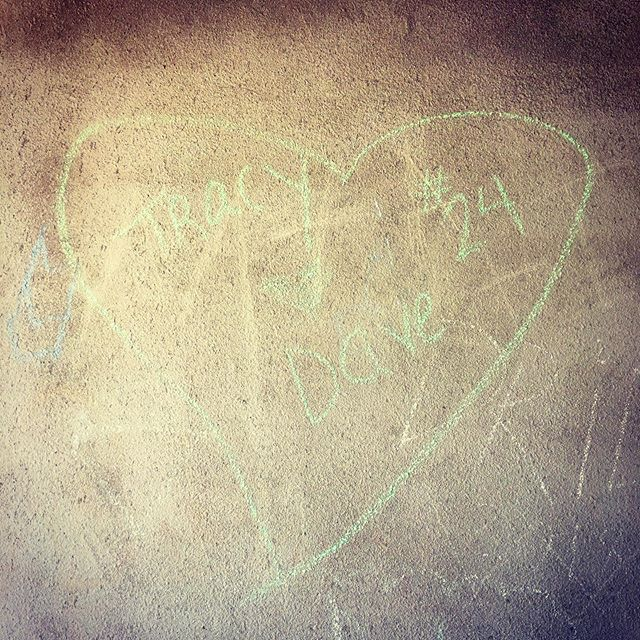 the writing is on the wall...apparently i ❤️dave. Hmmm, who's dave? #graffiti #outandabout #thatsnotme