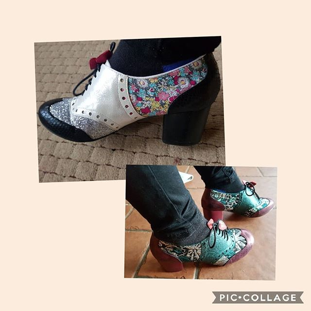 Clara bows today - green or silver and gold??? Such practical shoes!  @irregularchoice another go to shoe  #icshoes #irregularchoicefan #irregularchoice #shoesaddict #iloveirregularchoice #shoeobsession #alwaysbeyourself #beingyourself #over40 #styleover40 #over40fashion #styleoverforty #confidenceisbeauty #quirkyfashion #quirkystyle #uniquelyme #shoelove #teachershoes #embraceyourcurves #disneyfashion #stayhappy #shoestobehappy #feelgoodfashion #teacherlife #teachersbelike #shoeoftheday #irregularchoice #shoequeen