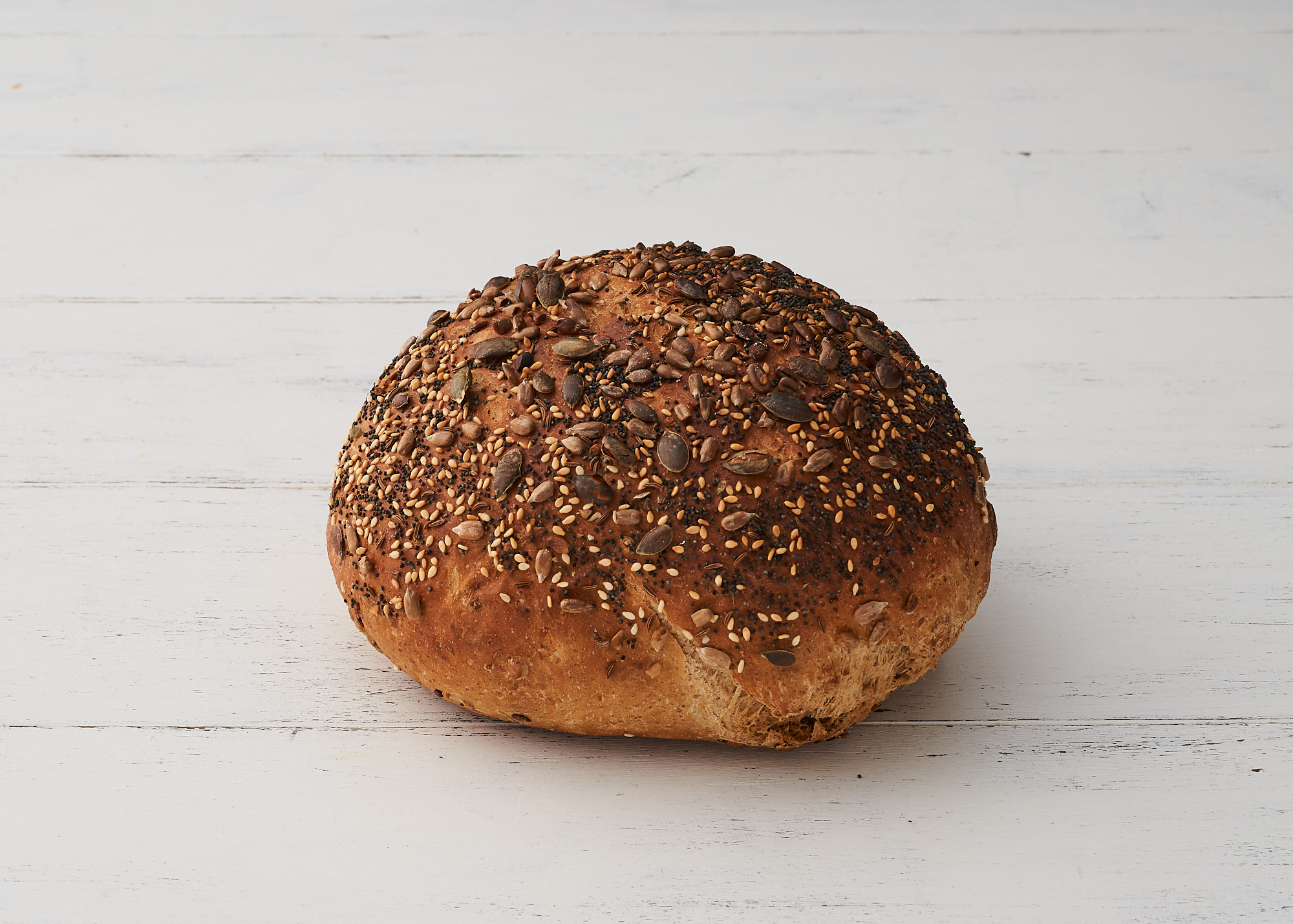 Multiseed - Wheat with Malted grain mixed with Poppy seed, pumpkin, sunflour and linseed.