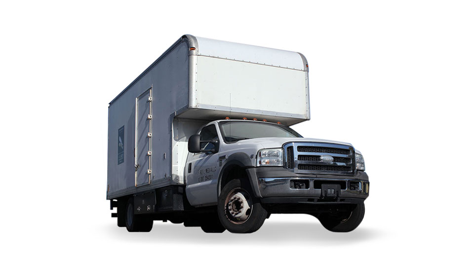 Picture of Firefly 3-Ton Grip Truck - White Ford F-550 with 20ft Box.